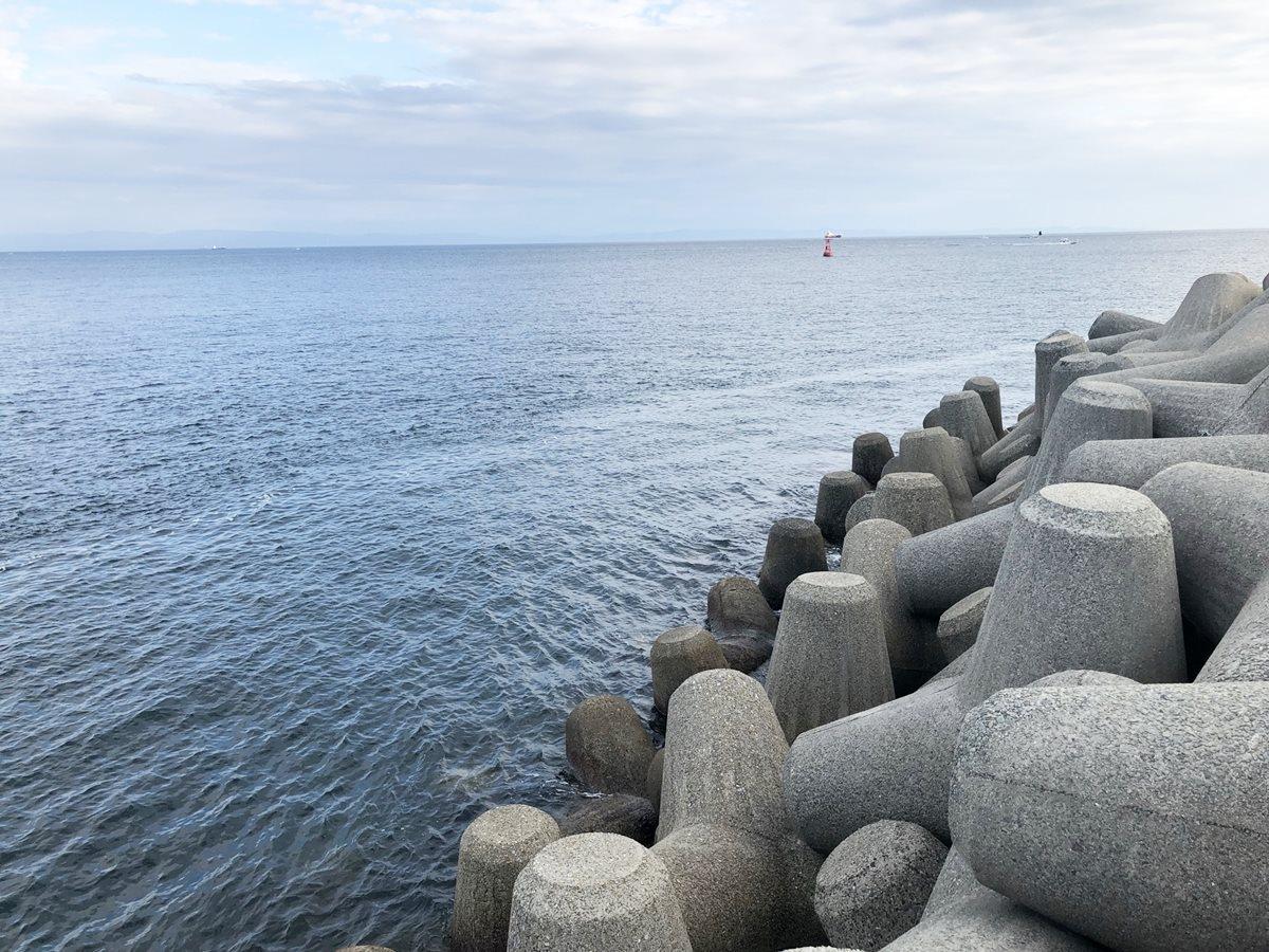 垂水漁港エギング 大波止